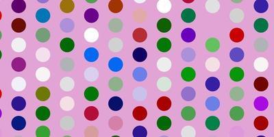 ljusrosa, grön vektorbakgrund med fläckar. vektor