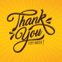 Tack typografi vektor