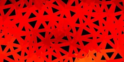 abstraktes Dreiecksmuster des dunkelorangen Vektors.