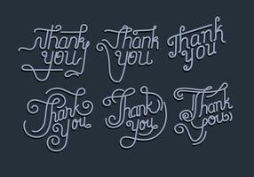 Danke Typografie-Vol. 2 Vektor