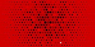 ljus orange vektor bakgrund med bubblor.