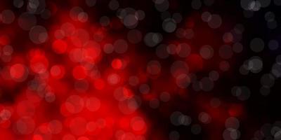 dunkelroter Vektorhintergrund mit Kreisen. vektor