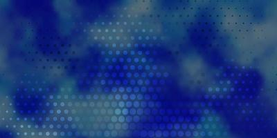 dunkelblauer Vektorhintergrund mit Kreisen. vektor
