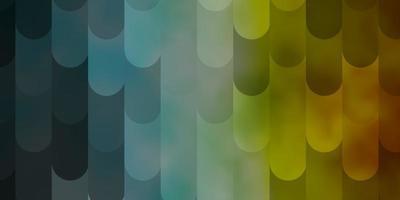 hellblaues, gelbes Vektormuster mit Linien. vektor