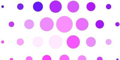 hellviolette, rosa Vektorschablone mit Kreisen.