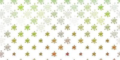 hellgrüne, gelbe Vektorschablone mit Grippezeichen.