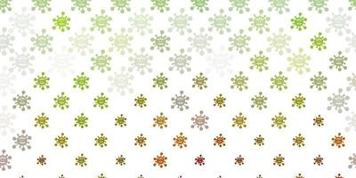 ljusgrön, gul vektormall med influensatecken. vektor