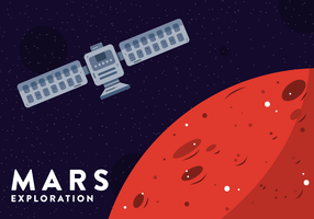 mars explorationsvektor vektor