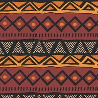 ethnisches buntes böhmisches Stammesmuster mit geometrischen Elementen, afrikanisches Schlammtuch vektor