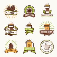 kafé logotyp vektor