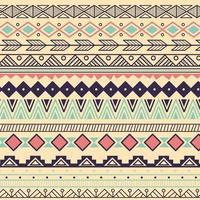 aztekisches Stammesmuster in Streifen