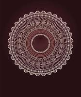 etnisk aztec cirkel prydnad