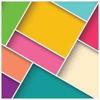 abstrakter 3d quadratischer Hintergrund mit bunten Fliesen