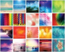 Sammlung von 20 abstrakten Dreiecken Musterhintergründe vektor