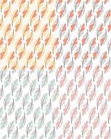 Sammlung von vier nahtlosen Musterentwürfen mit böhmischen handgezeichneten Federn