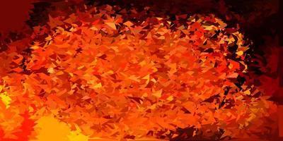 mörk orange vektor triangel mosaik mönster.
