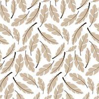 sömlös mönster design med bohemiska handritade fjädrar