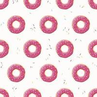 nahtloses Muster mit bunten leckeren glänzenden Donuts