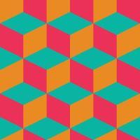 geometriska sömlösa mönster med färgglada rutor i retro design vektor