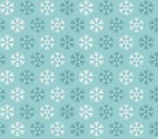 nahtloses Muster mit blauen und weißen Weihnachtsschneeflocken auf blauem Hintergrund