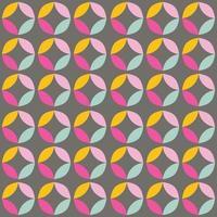 geometriska sömlösa mönster med färgglada cirklar i retro design vektor