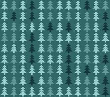 sömlösa mönster med julgranar på blå bakgrund vektor