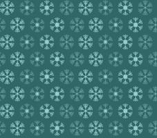 sömlösa mönster med blå och vita julsnöflingor på blå bakgrund vektor