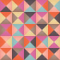 geometriska sömlösa mönster med färgglada trianglar i retro design vektor