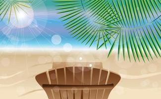 Sommerferienkarte mit tropischer Insel vektor