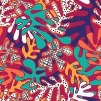 abstrakta former sömlösa mönster, färgglad design vektor