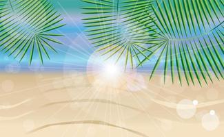 sommarferiekort med tropisk öbakgrund vektor