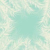 tropisk design med palmblad och växter på grön bakgrund vektor