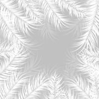 tropisk design med monstera palmblad och växter på grå bakgrund vektor