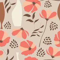 nahtlose Muster mit floralen Elementen vektor