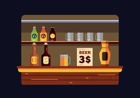 Growler und Bar Vektor