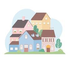 Wohnhäuser Nachbarschaft Architektur Eigentum Gebäude Bäume Design