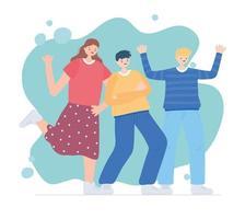 Happy Friendship Day, besondere Feier für Männer und Frauen vektor