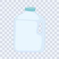 Plastik- oder Glasbecher Flaschenmodelle, Plastikflasche vektor