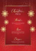 elegantes Weihnachtsmenü-Design