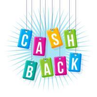 ikoniska cashback-vektorer