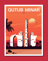 qutub minar illustration