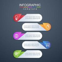 moderne Infografik Unternehmens- und Geschäftsvorlage