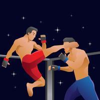 ultimata slåss vektor illustration