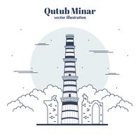 Qutub Minar-Vektor-Illustration