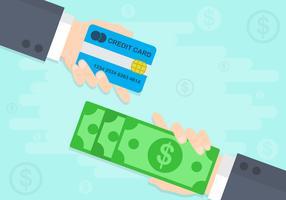 Bargeld zurück Hintergrund Illustration