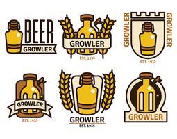 Growler-Abzeichen-Vektor-Set