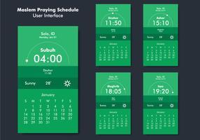 Benutzeroberfläche der Gebetserinnerungs-App