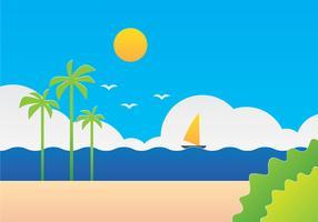 Papierkunst Seascape Illustration vektor