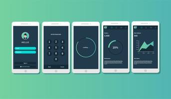 mobile App GUI vektor
