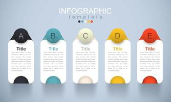 modern infografisk mall med underämne vektor
